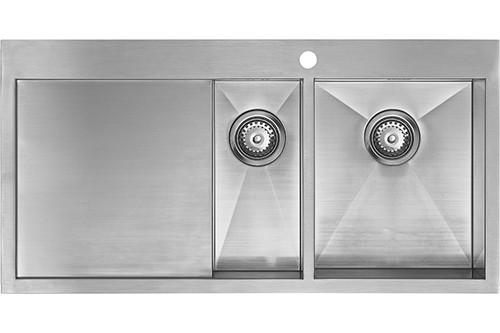 1810 Zenduo 6 I-F BBR One + Half Bowl Kitchen Sink With Drainer