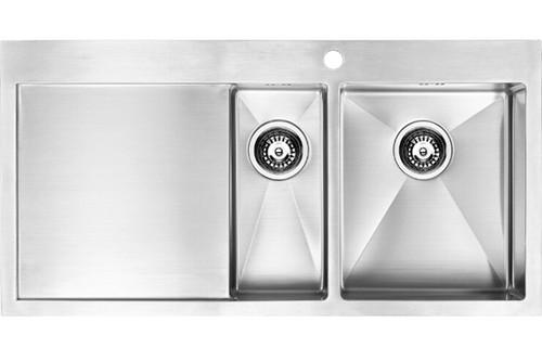 1810 Zenduo15 6 I-F BBR One + Half Bowl Kitchen Sink With Drainer