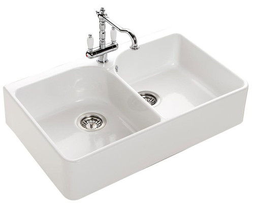 Chambord Clotaire II Le Grand White Ceramic Kitchen Sink