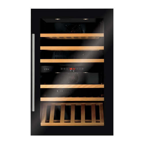 Black Built In Dual Zone 60cm Matrix Wine Cooler