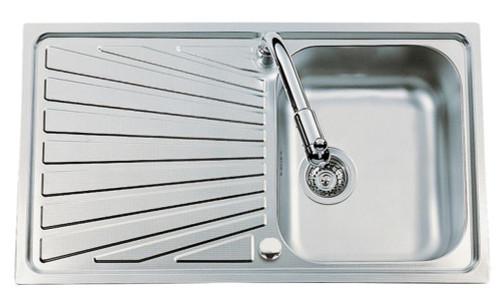 Luisina Verdi 1 Bowl Kitchen Sink - Stainless Steel