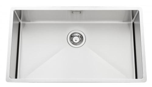 Luisina Large Sink in Stainless Steel Satin, Manual Emptying