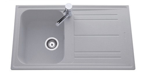 Luisina FUN Single Bowl Granite Kitchen Sink With Drainer & Free Waste