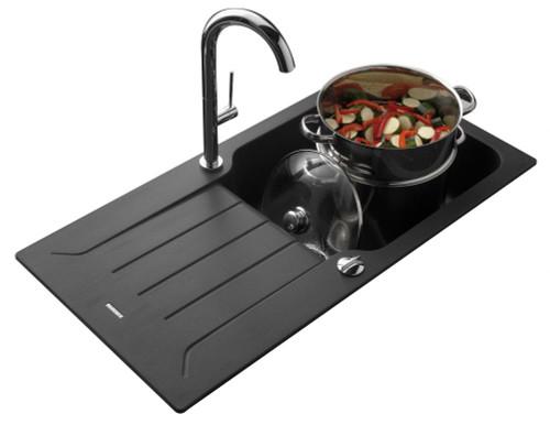 Luisina Traviata EV98011L Single Bowl Kitchen Sink With Drainer