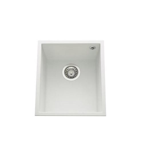 Luisina Quadrille EVSP984M Single Undermounted Bowl - Luisigranit White