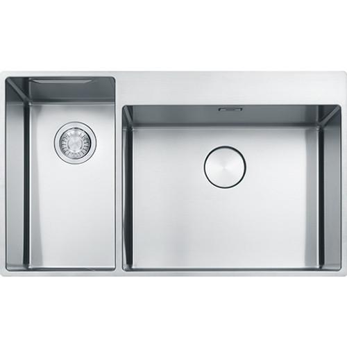 Franke Box Center Bwx 220 54 27 1 5b Lhsb Inset Sink Brushed Steel Sinks