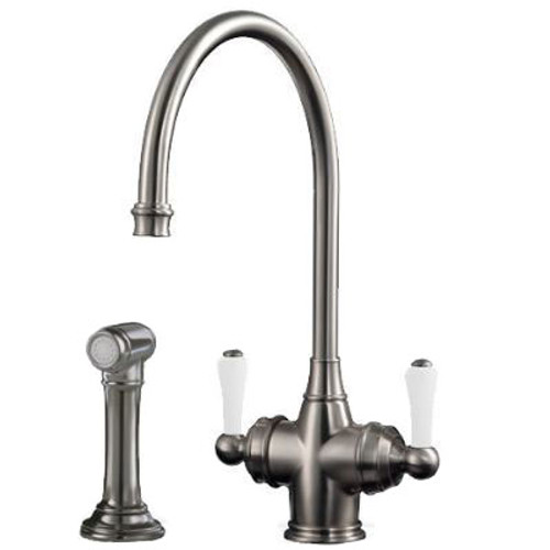 Perrin & Rowe Parthian 1537 (with Rinse) Filter Tap Pewter