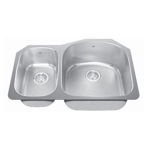 Kindred KSCXLU-C Toronto Stainless Steel Undermount Kitchen Sink Left Hand Small Bowl