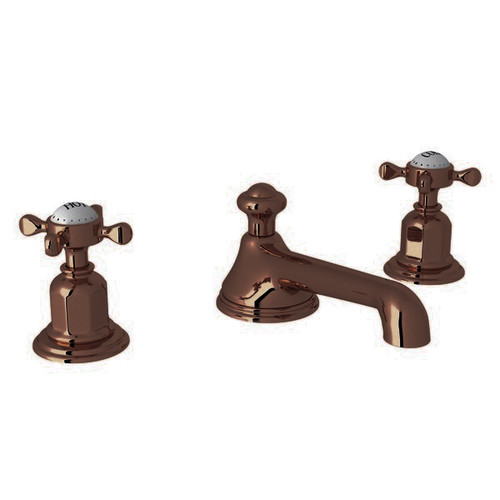 Perrin & Rowe 3705 Three Hole Basin Tap Set, Lever Handles - English Bronze