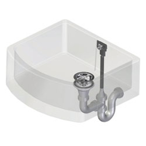 Perrin and Rowe Single Bowl Waste and Overflow Kit - Polished Brass