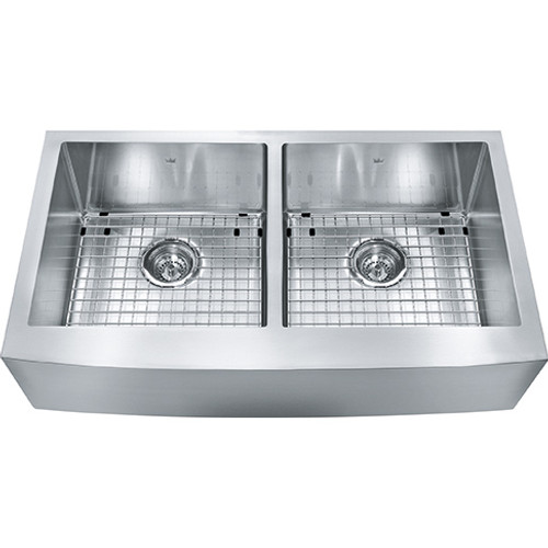 Kindred Designer KCFD36B-9-10BG Double Bowl Stainless Steel Kitchen Sink