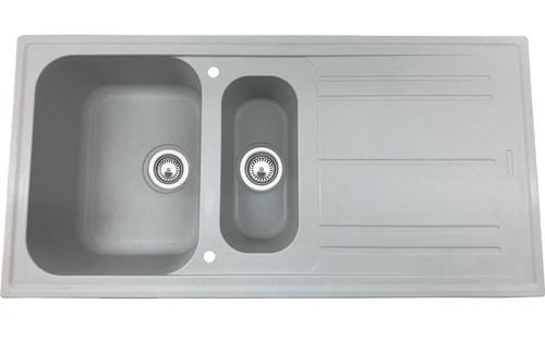 Luisina FUN 1.5 Bowl Granite Kitchen Sink & Free Waste - Greco