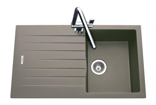 Luisina Joy EV8701 Single Bowl Kitchen Sink With Drainer - Luisimetal Croma