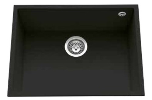 Luisina Quadrille EVSP985M Single Undermounted Bowl And Kitchen Sink - Black Metal