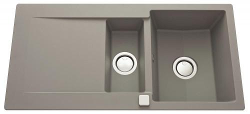 Luisina Epure 1 Bowl 1/2 - Drainer Kitchen Sink - Luisigranit Concrete