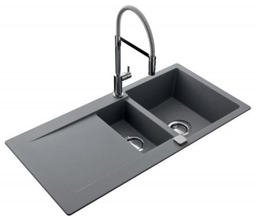 Luisina Epure 1 Bowl 1/2 - Drainer Kitchen Sink - Luisigranit Croma