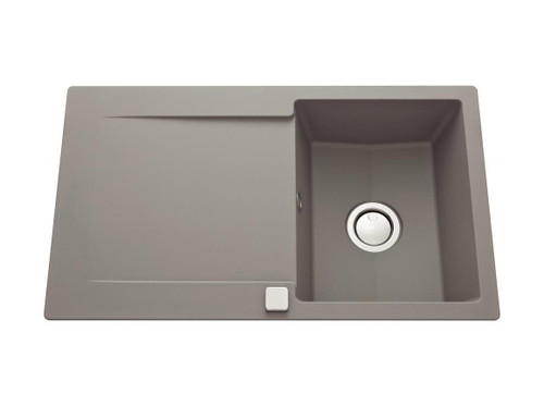 Luisina Epure EV2801 Single Bowl Kitchen Sink With Drainer - Concrete