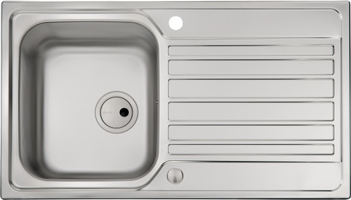 Abode Connekt Single Bowl & Drainer in Stainless Steel Sink