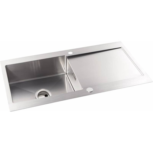 Abode Verve 1.0 Bowl & Drainer Stainless Steel Inset Sink