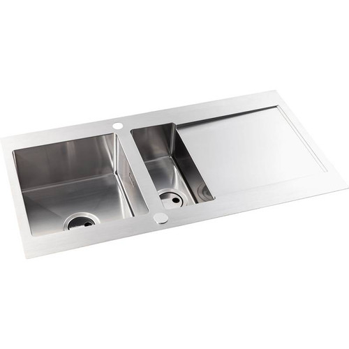 Abode Verve 1.5 Bowl & Drainer Stainless Steel Inset Sink