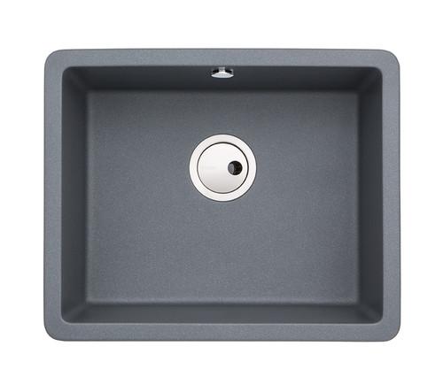 Abode Matrix SQ GR15 Large Single Bowl in Grey Metallic Granite Sink
