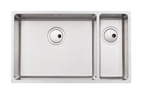 Abode Matrix R15 One and a Half Large Bowl LH Main Bowl in Stainless Steel Sink