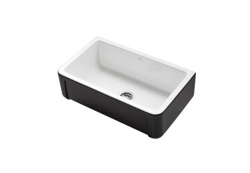 Chambord Henri II 'Le Grand' Black Ceramic Kitchen Sink
