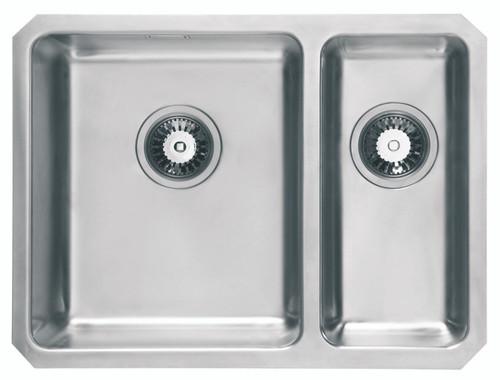 Ex Display Range Brass & Traditional Oasis Combi Stainless Steel One + Half Bowl Undermount Sink RH