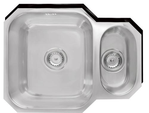 Ex Display Range Brass & Traditional Marlborough Stainless Steel One + Half Bowl Undermount Sink