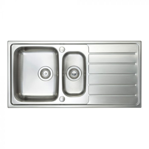 Ex Display Brass & Traditional Hereford Reversible  Stainless Steel Sink With Drainer