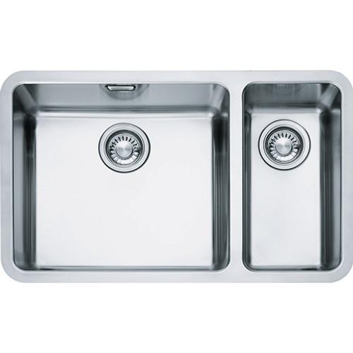 franke kubus kbx160 45 20 stainless steel kitchen sink sinks rh sinks co uk franke stainless steel undermount double bowl kitchen sinks franke kubus kbx 110 55 stainless steel undermount kitchen sink