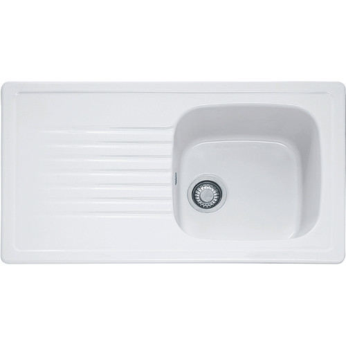 Franke Elba ELK611 Ceramic White Kitchen Sink