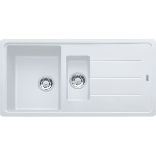 Franke Basis BFG651 Fragranite Polar White Kitchen Sink (Reversible)