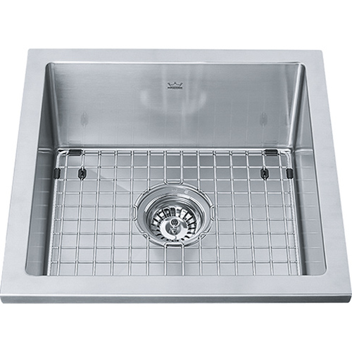 Kindred KCS21SR/8 Designer Single Bowl Stainless Steel Kitchen Sink