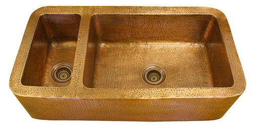 Eclectica Chateaux Copper Kitchen Sink