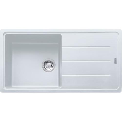 Franke Basis BFG611-97 Fragranite Polar White Kitchen Sink