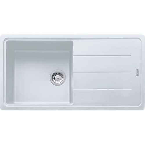 Franke Basis BFG611-970 Fragranite Polar White Kitchen Sink