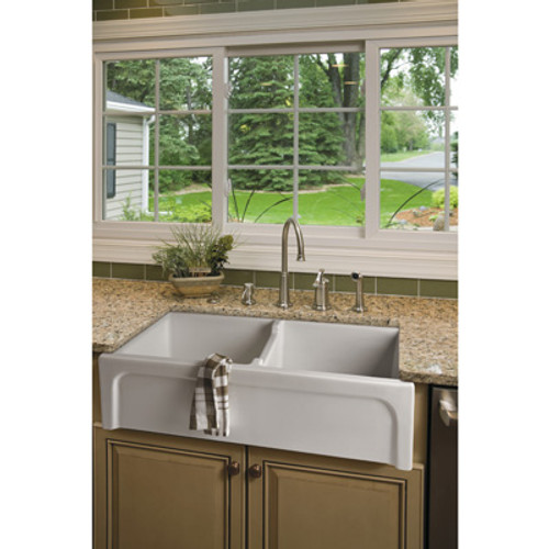 Brass & Traditional Sinks Hanbury Double Kitchen Sink