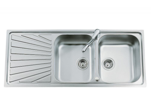 Double Bowl Stainless Steel Kitchen Sink.Luisina Verdi Ev5421 Il Double Bowl Stainless Steel Kitchen Sink