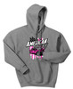Gonna Send It Hoodie w/Pink-Sport Grey
