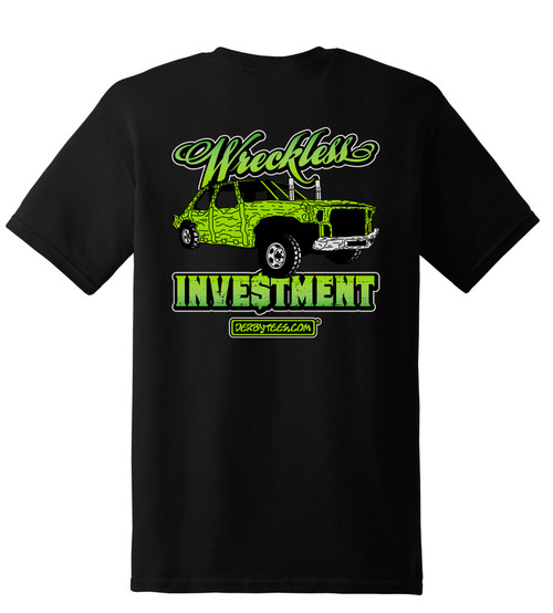 Wreckless Investment Kids Tee-Black w/Green - CLEARANCE