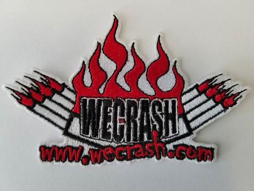 "We Crash Patch (Red, Black & White) 4"" x 2.5"""