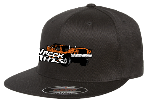 WRECK THIS W/CAR BLACK FLATBILL HAT (See details for Personalization)