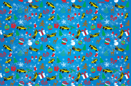 BLUE CHRISTMAS GIFT WRAP