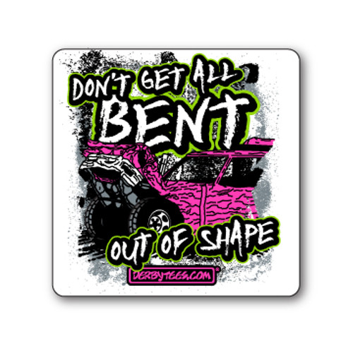 Bent Out of Shape Sticker (Pink)