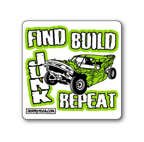 Find Build Junk Sticker W/Green
