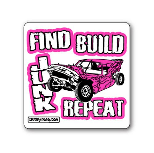 Find Build Junk Sticker W/Pink