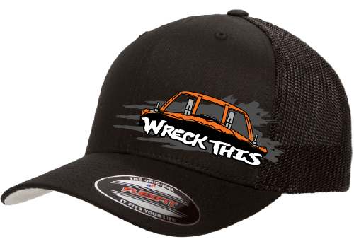 Wreck This Derby Car Hat - Mesh
