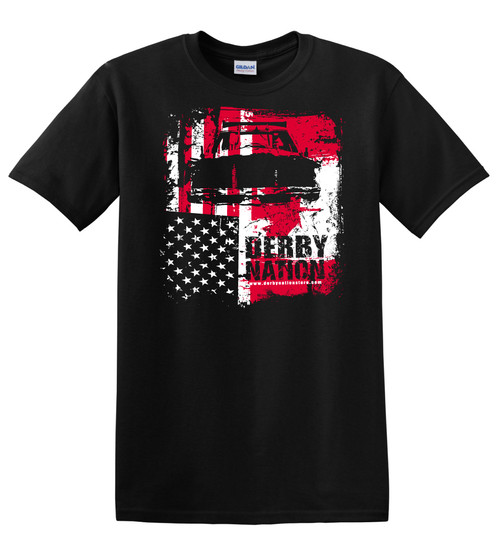 Derby Nation Black Tees