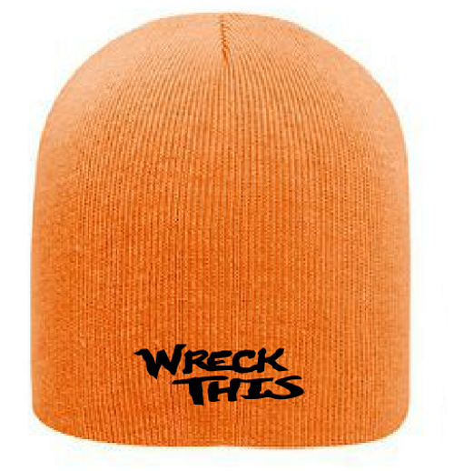 WRECK THIS NEON ORANGE BEANIE